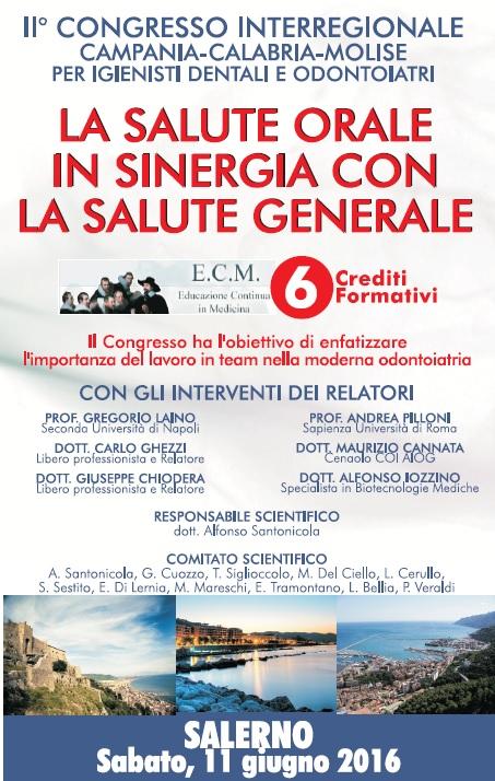 11 Giugno a Salerno Igienisti ed Odontoiatri uniti per la Salute Orale