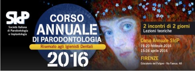 SIDP – CORSO ANNUALE DI PARODONTOLOGIA 2016 (riservato agli igienisti dentali)