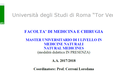 Master universitario di i livello in medicine naturali